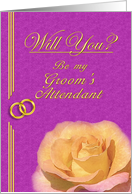 Please be my Groom's Attendant card