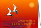 Grandparents 56th Wedding Anniversary card
