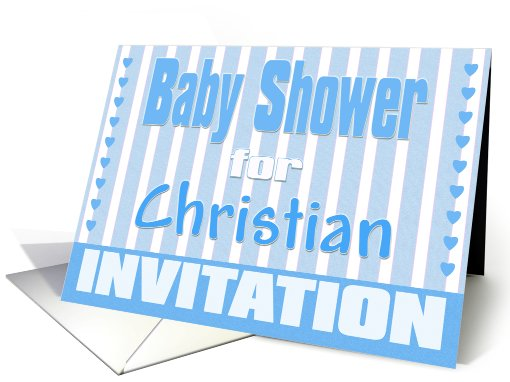 Baby Christian Shower Invitation card (424727)