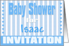 Baby Isaac Shower Invitation card