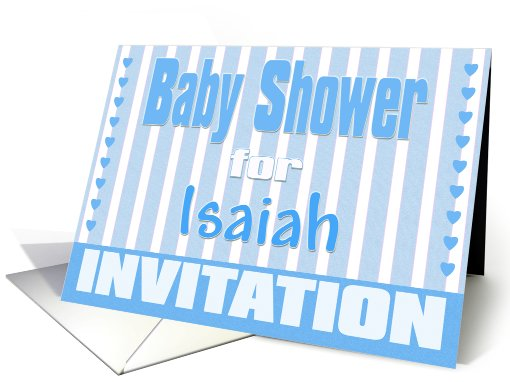 Baby Isaiah Shower Invitation card (424749)