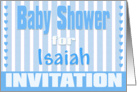 Baby Isaiah Shower Invitation card
