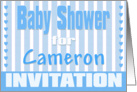 Baby Cameron Shower Invitation card