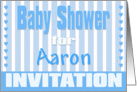 Baby Aaron Shower Invitation card