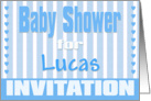 Baby Lucas Shower Invitation card