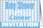 Baby Connor Shower Invitation card