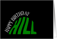 Almost Over the Hill Birthday card