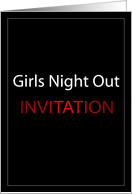 Girls Night Out Invitation card