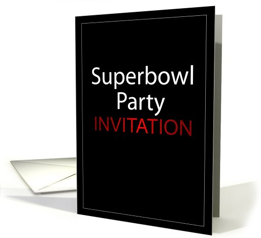 Superbowl Party Invitation card (441296)