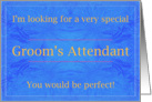 Perfect Groom's Attendant card