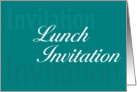 Business Lunch Invitation card