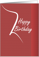 Happy Birthday Customer card