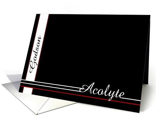 Godson, Thank you for being Acolyte card (467001)