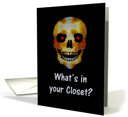 Coming Out Closet Skeleton card (494600)