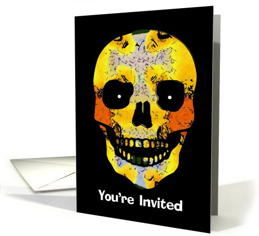 Halloween Skeleton Invitation card (494603)
