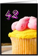 Happy 42nd Birthday muffin card