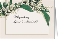 Will You Be My Groom's Attendant Invite card