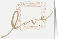 Love Frame Engagement Invitation card
