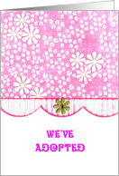 Adopted Baby Girl Announcement card