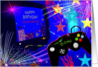 Birthday, Grandson, Video game Controler and Computer card