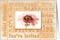 BRIDAL PARTY Inviation - Peach floral card