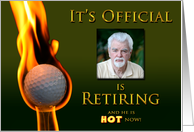 RETIREMENT - INVITATION - SURPRISE - GOLF - PHOTO INSERT card