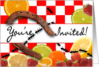 Picnic Invitation - You're Invited - Ants - Horseshoe - Tabletop card