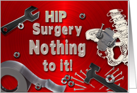 Get Well - Hip Surgery - Humor - Duct Tape - Nails/Nuts/Bolts card