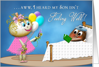 GET WELL SON - Potato Family Collection - FUNNY card