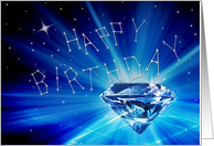 Birthday - Constellations/Stars (Diamond in the Sky) card