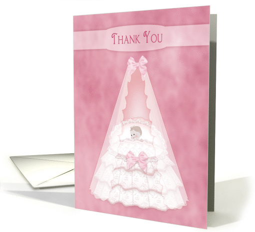 Thank You, Baby Girl - Bassinet - Pink card (1474848)