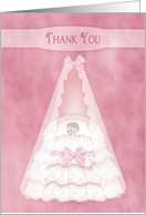 Thank You, Baby Girl - Bassinet - Pink card