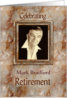 Retirement Invitation- Marble Texture - Photo Insert card