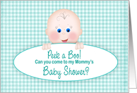 Baby Shower Invitation, Peek a Boo, Baby's Inviting Guests card