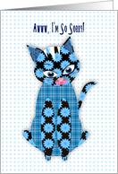 So Sorry, Blue Print Kitty Cat, Assorted Patterns card