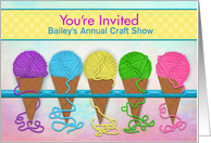 You're Invited, Personalize for Crafts, Sewing Events, Yarn Cones, card