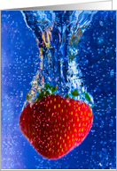 Congratulations- You made a big splash,Strawberry Splashed, Blue Water card