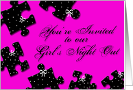 Girls Night Out Invite card