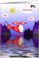Helicopter Valentine card