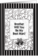 Brother Best Man card