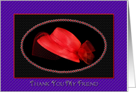 Red Hat Ladies Thank You Friend card