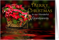 Christmas - Grandparents - Reflections - Decorations card