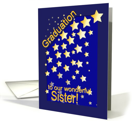 Graduation Stars, Sister, from Siblings card (419530)
