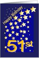 Happy Birthday Stars, 51 card