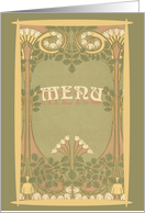 Wedding Menu Card Art Nouveau card