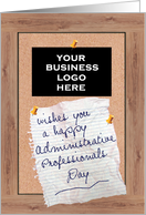 Administrative Professionals Day, Custom Logo card