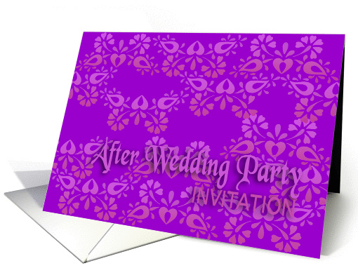 violet after wedding party invitation no.09 card (899908)