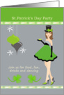 St.Patrick's Day Party Invitation - Girl and ornaments card