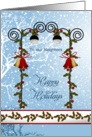 Christmas Neighbor - bells, lantern, holly card