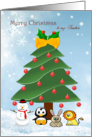 Christmas Teacher - tree and animals card